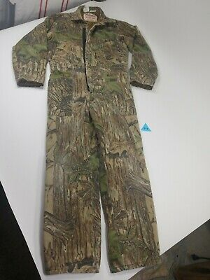 03cf5a325932e WALLS Blizzard Pruf Insulated Hunting Coveralls Camo size Youth 14 Regular