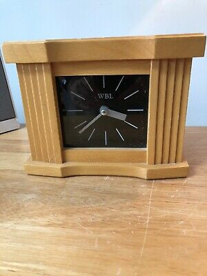 WBL Retro Wooden and Glass Mantle Table Clock GWO
