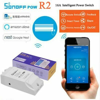 Sonoff Pow R2, 16A Power Energy Meter Monitor Wireless WiFi Switch with Timing
