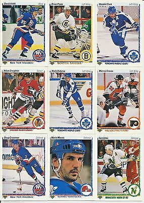 1990-91 Upper Deck Hockey Complete Series 1 Set 400 Cards - Jaromir Jagr RC