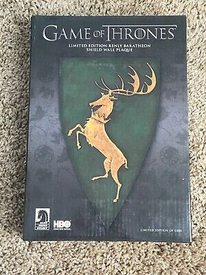 Game of Thrones Renly Baratheon Shield Wall Plaque Limited Edition Brand New!