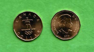 Vancouver Olympics 2010, Uncirculated $1 Canada Coin, Lucky Loonie Coin