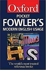Pocket Fowlers Modern English Usage, Henry W. Fowler, Used; Good Book