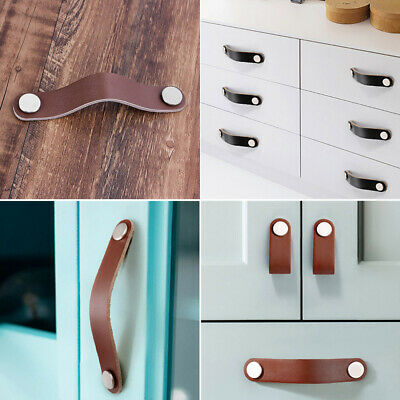 Drawer Knob PU Leather Cabinet Pulls Door Handle Dresser Cupboard Furniture