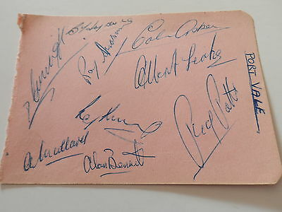 Vintage Football Autographs Port Vale 1950S From Autograph Book