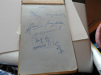 Vintage Football Autographs Huddersfield/Grimsby Researly1950Sfrom Autographbook