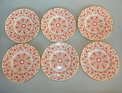 Royal Crown Derby ROUGEMONT Ely Chelsea Set of 6 Bread & Butter Plates