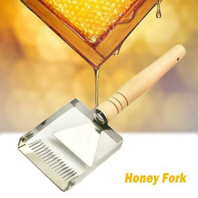 Bee Hive Uncapping Honey Fork Scraper Shovel Beekeeping Tool Stainless Steel