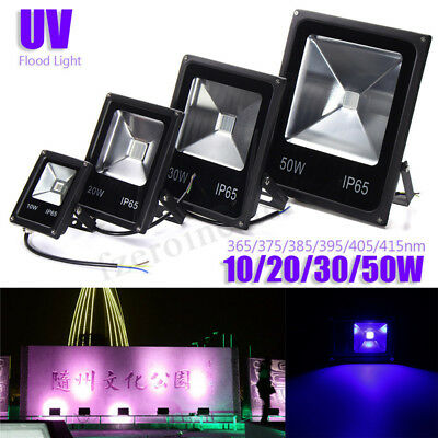 20/30/50W UV LED Outdoor Flood Light Lamp Blacklight Party Club Halloween