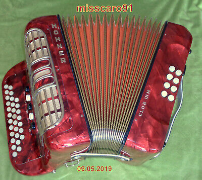 Made In Germany  Diatonic  Hohner  Club Iii M  C/F Button Accordion  From School