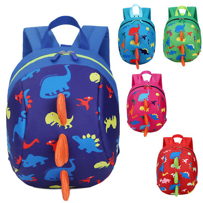 NEW Fashion Cartoon Baby Dinosaur Safety Harness Strap Bag Backpack With Reins