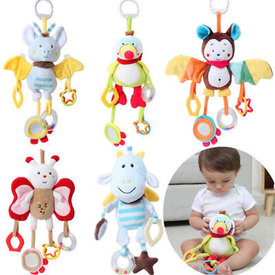 Baby Toys Infant Stroller Bed Cot Crib Hanging Doll Infant Animal Rattles Toy LE