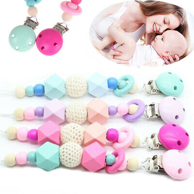 Star Anise Baby Pacifier Chain Dummy Clasps Silicone Beads  Soother Holder
