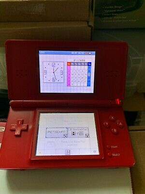 Nintendo Ds Lite Super Mario Bros. Limited Edition Red Faulty Card Reader