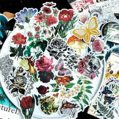 Stationary Scrapbook Plants Stickers Paper Sticker Diary Label Phone Decor