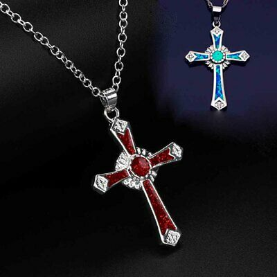 """18/"""" LONG NEW. GOTH A MADONNA STYLE  BRONZE CRYSTAL CROSS NECKLACE"""