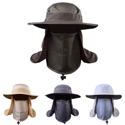 Outdoor Sun Protection Fishing Cap Neck Face Flap Hat Wide Brim Cover Unisex Hat