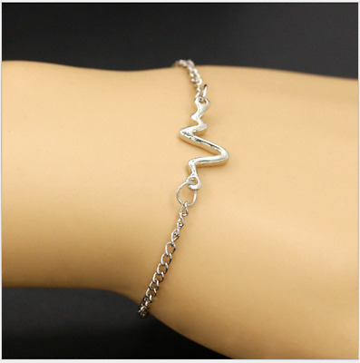 Creative New Fashion Personality couple heartbeat frequency bracelet