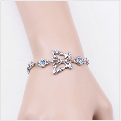 Women Butterfly diamond bracelet - friendly  bracelet Valentine' s Day gift