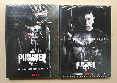 The Punisher Seasons 1 & 2 DVD 6 Disc Set Complete w/Slip Covers Marvels Lot