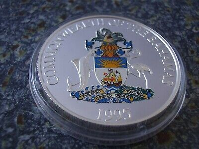 Bahamas 2 Dollars 1995 1 oz Silber PP Flora & Fauna proof Farbe color colour