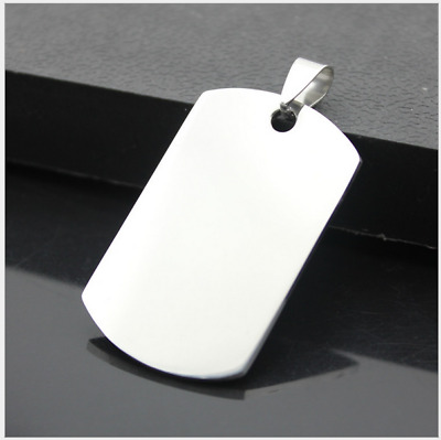 Double-sided polishing stainless steel necklace pendant wholesale Fashion
