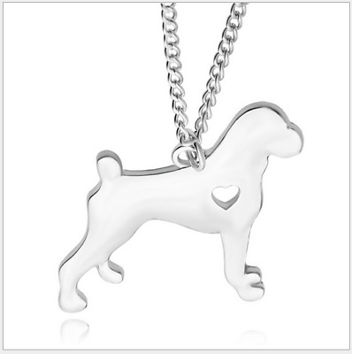 Creative Short tail French bulldog necklace ladies puppy pendant necklace