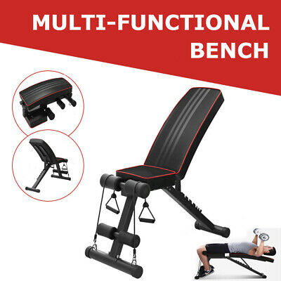 Adjustable Folding Weight Bench Multi Gym Dumbbell Workout Fitness Lifting Bench
