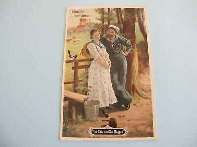 The Maid and the Magpie Sailor The Popular Series Postcard