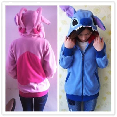 Lilo&Stitch jacket Disney Kigurumi manteau cosplay à capuche Angel bleu Cartoon