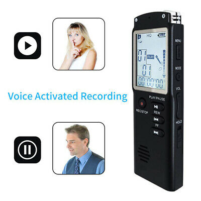 Voice Activated Mini Digital Sound Audio Recorder Dictaphone 32G MP3 Player