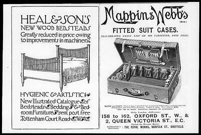 1899 Antique Print - ADVERTISING Heal Sons Mapping Webbs Suit Cases  (31)