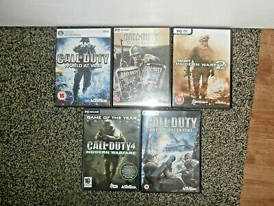 JOB LOT PC Games~CALL OF DUTY x 5~World At War, Modern Warfare 1 & 2 + More