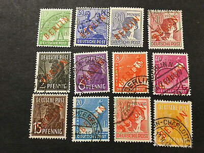 Germany-Berlin Stamps Scott Cat 9N 21-32 Used MISSING 2 HIGH VALUES
