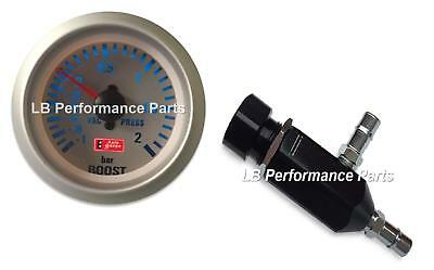 Manual Boost Controller MBC and 52mm Gauge Kit (Bar) - Any Petrol Turbo Car (4C)