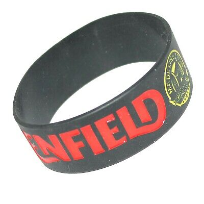 Royal Enfield Embossed Silicone Rubber Wristband Bracelet Schwarz