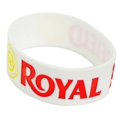 Royal Enfield Embossed Silicone Rubber Wristband Bracelet Weiß