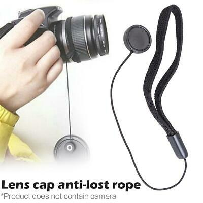 Universal DSLR Lens Cover Cap Holder Keeper Anti-lost String Leash Strap Cord