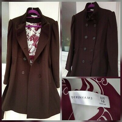 23d93e112b5d Womens Debenhams brown coat size 16 by RED HERRING, Trench coat, Wool blend  ❤