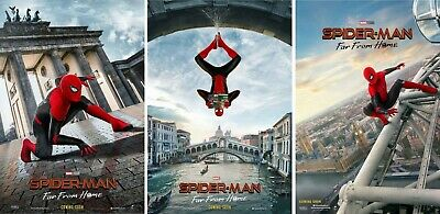 Spider-Man FAR FROM HOME Orig INTL 27x40 DS Movie Poster Set of 3 Tom Holland