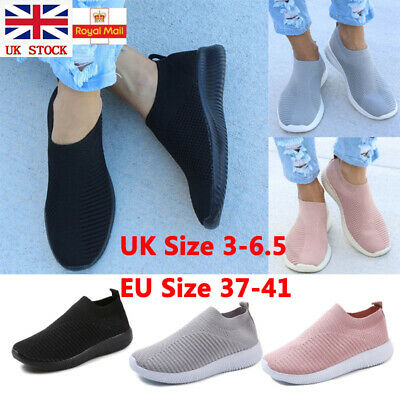 Womens Pull On Breathable Running Sneaker Lady Trainers Casual Sport Pumps Shoes