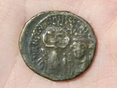 CONSTANS II Unidentified Byzantine Ancient Silver Coin #Q35