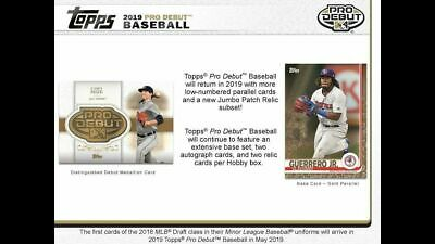 2019 Topps Pro Debut Complete Base Set (1-200) Guerrero-Franco++++