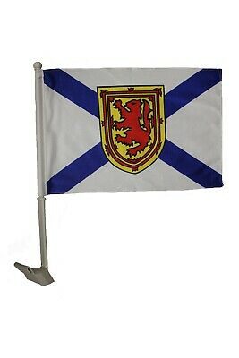 "NOVA SCOTIA Canada Provincial  12"" x 18"" Inch CAR FLAG With Stick..New"