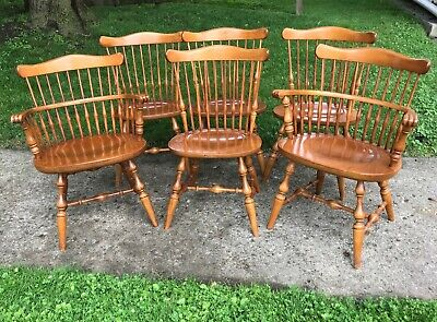 Ethan Allen Heirloom Governor Bradford Maple Dining Chair Nutmeg Tavern Captain