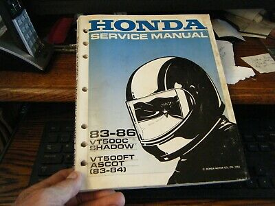1983-86 vintage honda motorcycle shop manual yt500c shadow vt500ft ascot  83-84
