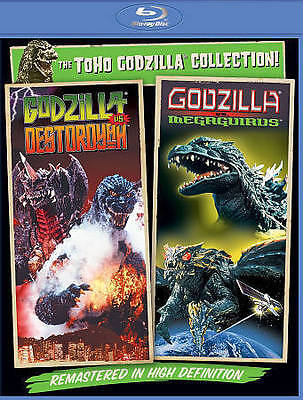 Godzilla vs. Destoroyah & vs. Megaguirus BLURAY NEW Destroyah Destroyer USA
