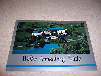 1980s WALTER ANNENBERG ESTATE MANSION HOME PALM SPRINGS CA. VTG POSTCARD