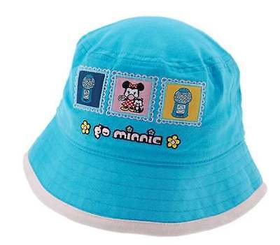 1bbfeee6 NWT DISNEY MINNIE MOUSE Blue Bucket Hat Girls 100% cotton from