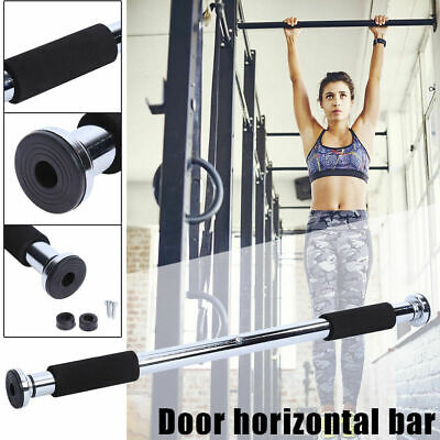 Chin Up Bar Portable Home Gym Pull Up Doorway Abs Workout Exercise Fitness Steel